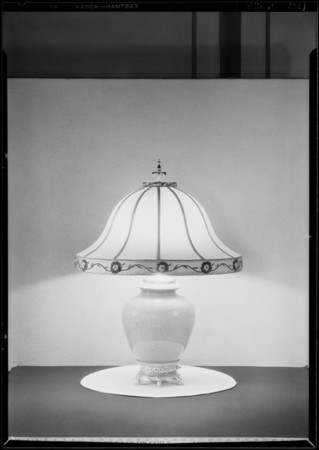 Table lamp (to be printed futuristically), Southern California, 1929