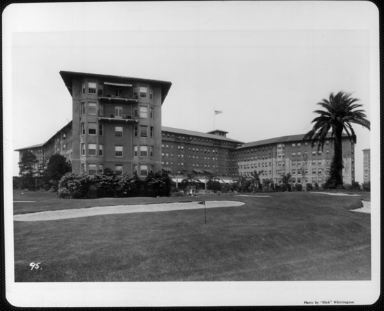 The Ambassador Hotel from the southeast, as seen from its golf course