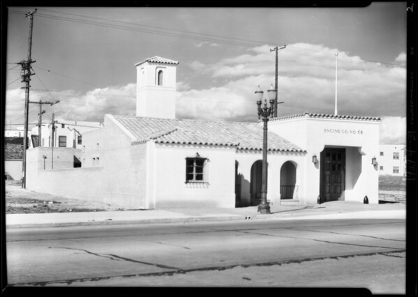 Fire station at 5225 West Pico, Southern California, 1929