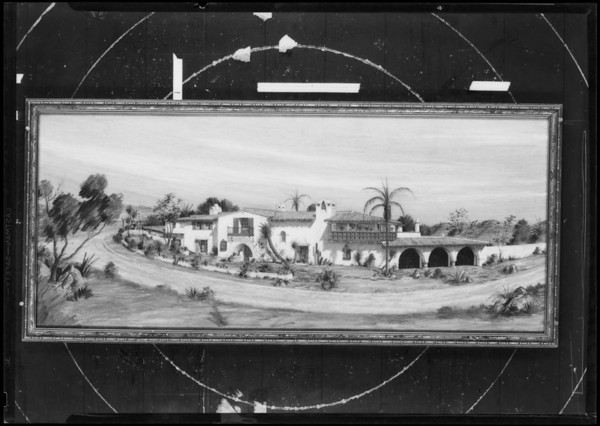 Painting of house, Southern California, 1931