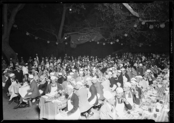 Atwater Kent's banquet & Music Dealers Association at Uplifters Club, Southern California, 1928