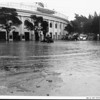 Aimee Semple McPherson's Angelus Temple surrounded by floodwaters