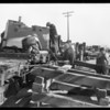 Unloading machinery for Pacific Coast Drop Forge, Southern California, 1929