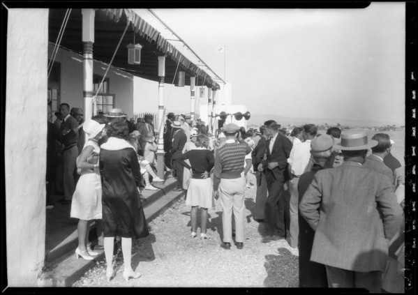 Opening day at Lido Isle, Newport Beach, CA, 1928