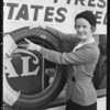New tires at warehouse store, East 9th Street & North Alameda Street, Azusa, CA, 1931