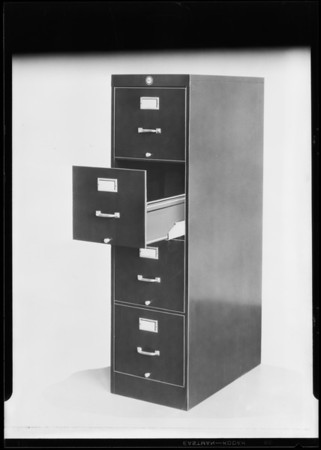 Retouched drawer cabinet, Southern California, 1930