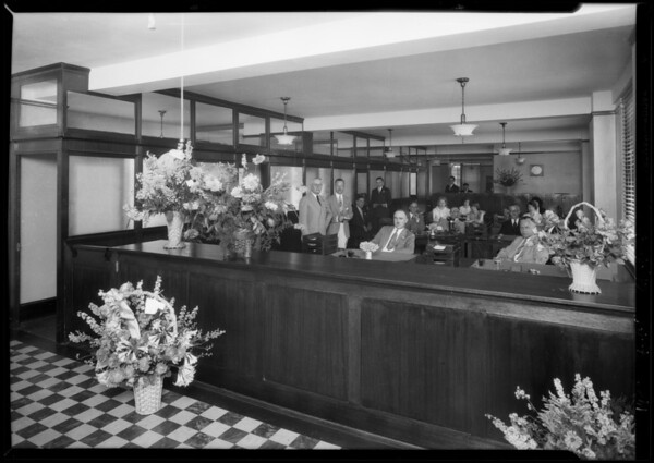 Associated Indemnity Co. new offices in subway ter. building, Southern California, 1928