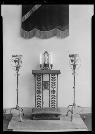 Wrought iron wall hangings, etc., Southern California, 1930