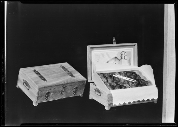 Boxes of fruit, Hollywood Laboratories, Southern California, 1930