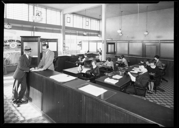 North American Auto Club office, Southern California, 1930