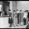 Girls at organ - Polytechnic High School, Southern California, 1925