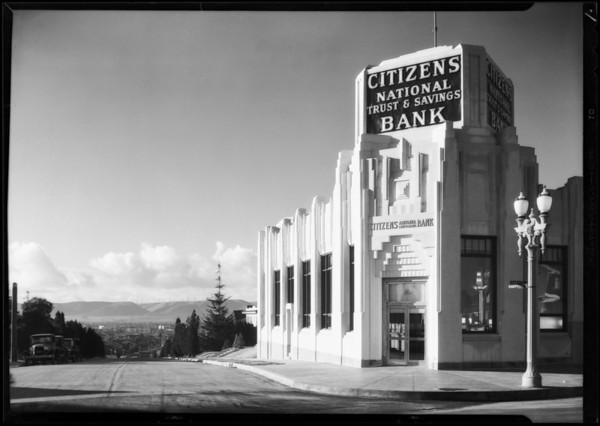 Branch at West Washington Street and West View Street, Citizens National Trust & Savings Bank, Los Angeles, CA, 1930