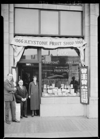 Keystone Print Shop, Southern California, 1924