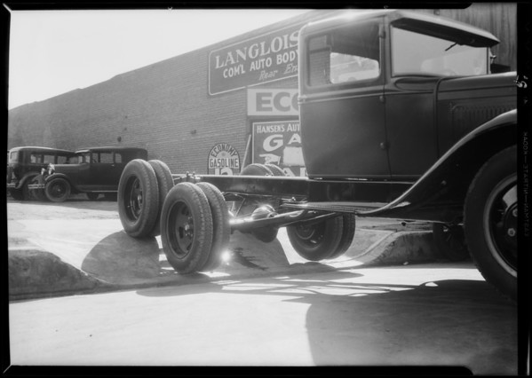 Ford 6 wheeler trucks, Southern California, 1931