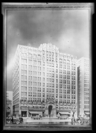 Copy of Fashion Center building drawing, Southern California, 1928