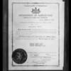 Copy of license, Mission Orange Juice, Southern California, 1928