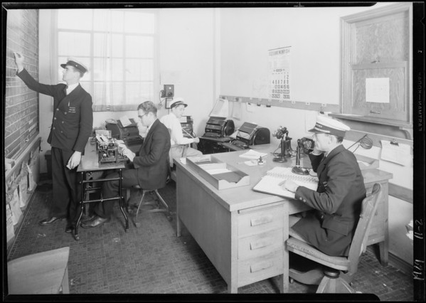 Dispatchers office, Maddux, Southern California, 1929