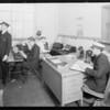 Dispatchers office, Maddux, Southern California, 1929