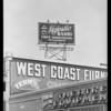Radio signs, Southern California, 1928