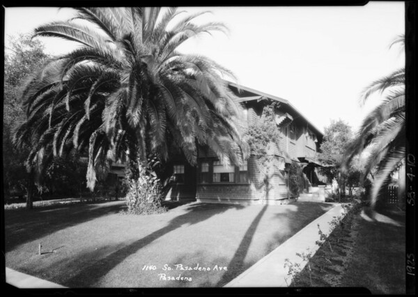 1140 South Pasadena Avenue, Pasadena, CA, 1925