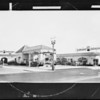 Retouched service station, Emblem Petroleum, Southern California, 1931