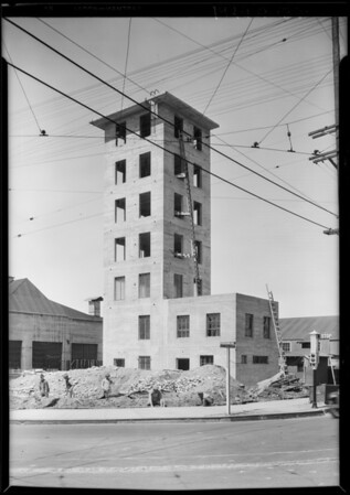 Training tower at South Avenue 20 and Pasadena Avenue, Los Angeles, CA, 1929