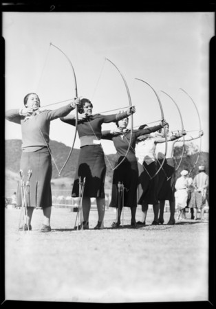 Archery contest, Griffith Park, Los Angeles, CA, 1931