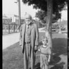 Old gentleman at corner with Edward, Southern California, 1925