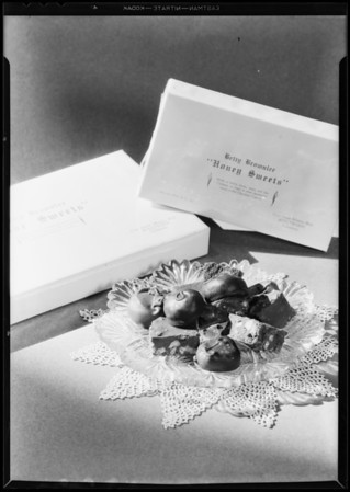 Box of candy, Betty Brownlee Candies, Southern California, 1931