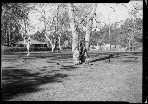 Group at Sycamore Park, Southern California, 1925