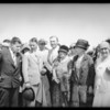 Arrival of Australian fliers at Rogers Airport, Los Angeles, CA, 1928