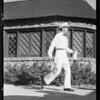 Driver & bottle of milk, Edgemar Dairy, Southern California, 1931