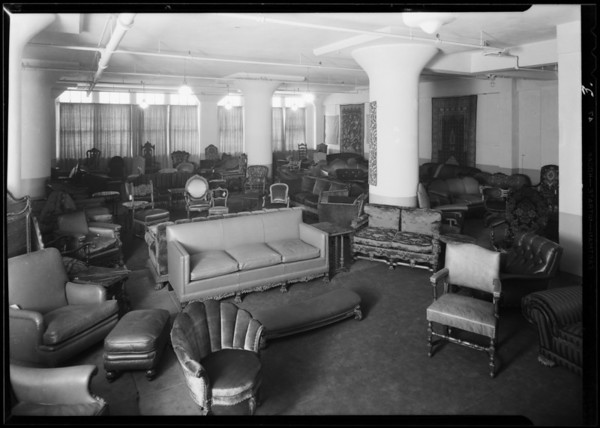 Interiors of display room, Murdock and Wilcek, Southern California, 1930