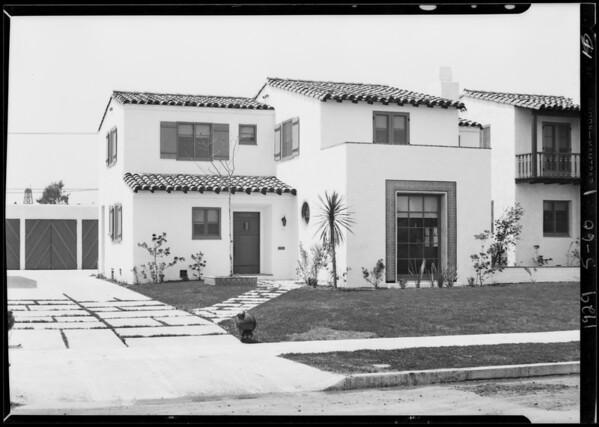 Houses on Martel Street, Los Angeles, CA, 1929