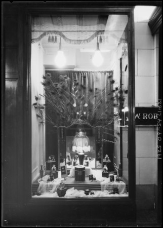 Perfume window, Southern California, 1925