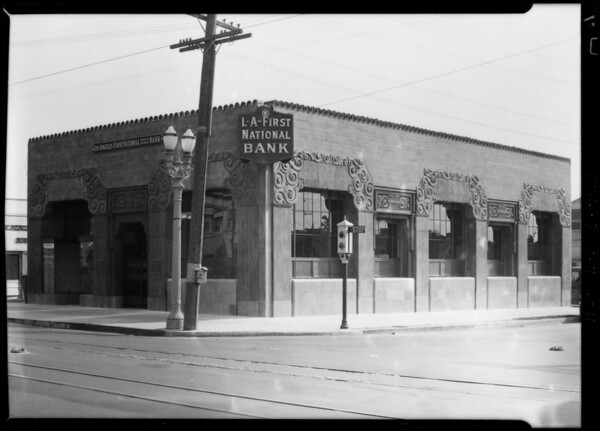 Los Angeles First National Bank, 2092 Jefferson Boulevard, Los Angeles, CA, 1928