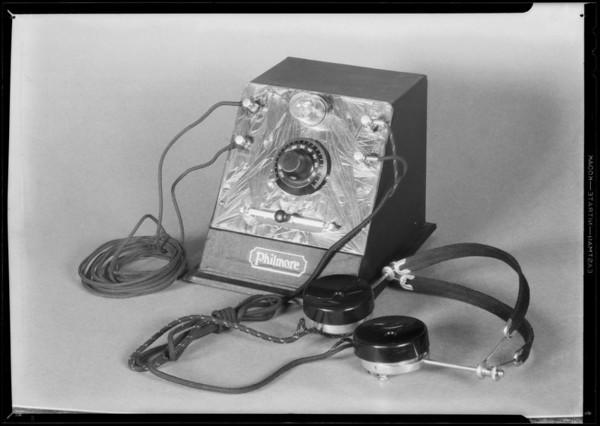 Crystal radio set, Southern California, 1931