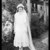 Mrs. Hommel wedding pictures, Southern California, 1925