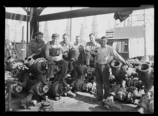 Christmas tree men at Signal Hill, CA, 1929
