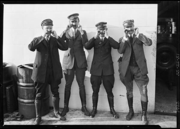 Yellow Cab men, Southern California, 1925