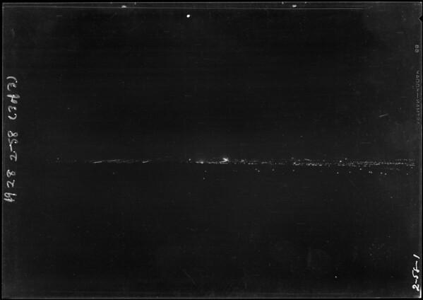 Night views from Margarita Peak, Southern California, 1928