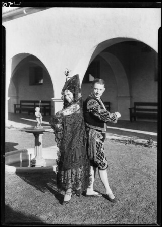 Close-ups, etc., Mission Playhouse, Southern California, 1928