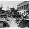 A view of a street in Olvera Street