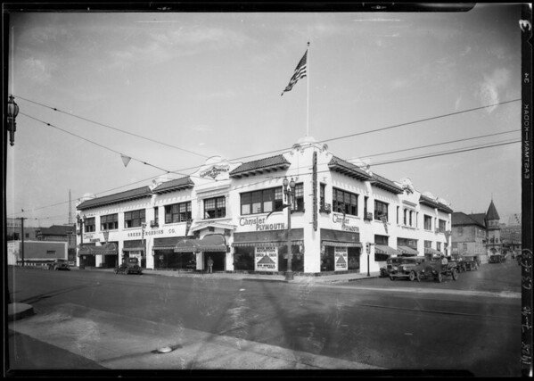 Greer Robbins building and electric repair department, Southern California, 1928