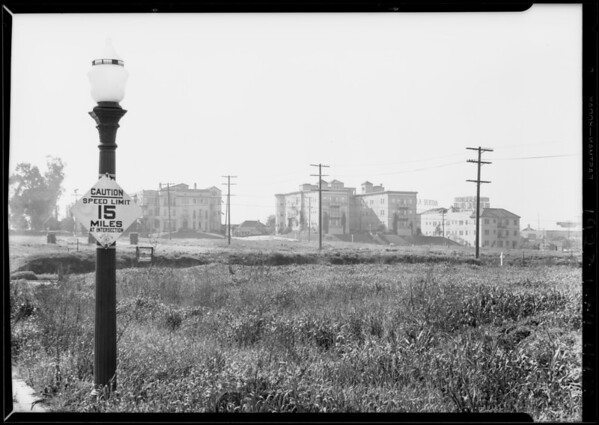 Auto Club sign, Southern California, 1928