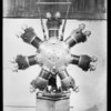 Shots of new airplane motor, Southern California, 1929