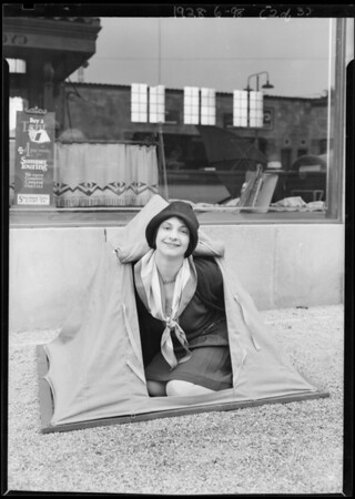 Lucille Winters at Hollywood Store, Southern California, 1928