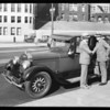 Mayor Porter and Lincoln car, Southern California, 1929