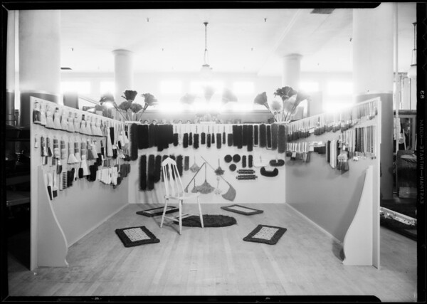 Display booth, Los Angeles Brush Manufacturing Corporation, The May Company, Southern California, 1931