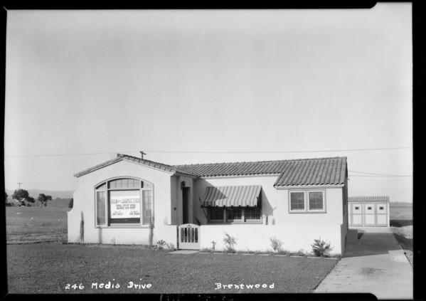 246 South Medio Drive, Los Angeles, CA, 1925